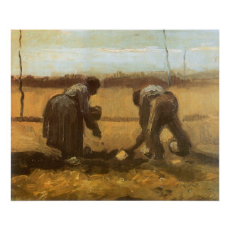 Bauern, die Kartoffeln durch Vincent van Gogh Poster