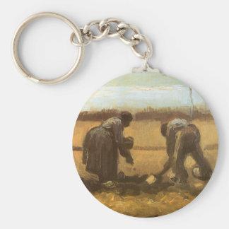 Bauern, die Kartoffeln durch Vincent van Gogh Schlüsselanhänger