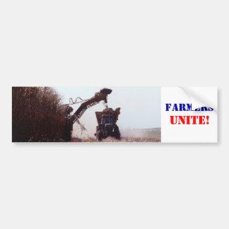 Bauern vereinigen! autoaufkleber