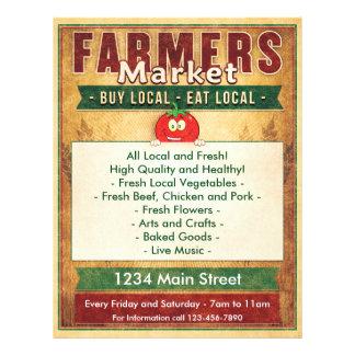 Bauern vermarkten essen lokales Zeichen Flyer
