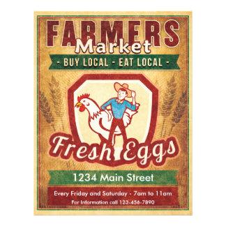 Bauern vermarkten frische Eier Flyer