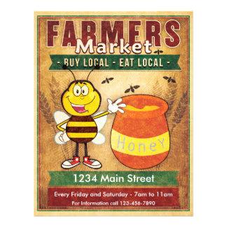 Bauern vermarkten frischen lokalen Honig Flyer