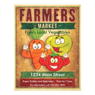 Bauern vermarkten frisches lokales Gemüse Flyer
