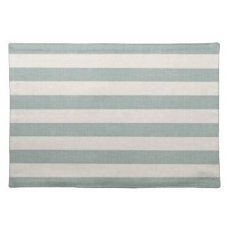 Bauernhaus-blaues Leinen Stripes Tischset