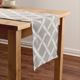 Bauernhaus-grauer Leinengitter-Tabellen-Läufer Kurzer Tischläufer