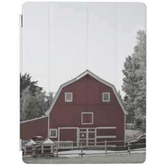 Bauernhaus-Rotscheune des rustikalen Westernlandes iPad Hülle