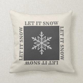 Bauernhaus-Schneeflocke-dekoratives Kissen