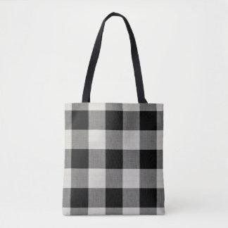 Bauernhaus-schwarzer Büffel-Karo-Taschen-Tasche Tasche