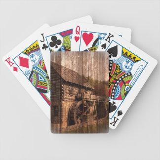 Bauernhausmühlwasserrad der ursprünglichen Scheune Bicycle Spielkarten