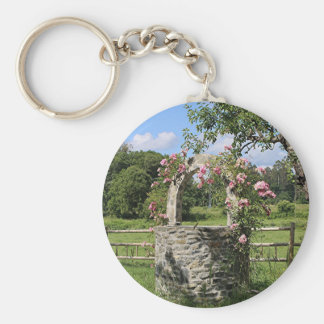 Bauernhof, der gut wünschen und Rosen, Spanien Schlüsselanhänger