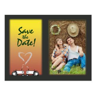 Bauernhof, der Save the Date Postkarte Wedding