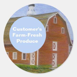Bauernhof-Frische Erzeugnis-Schablone Runder Aufkleber