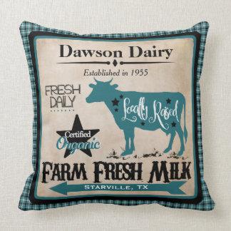 Bauernhof-frische Milch-personalisiertes Kissen