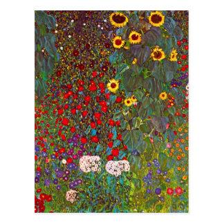 Bauernhof-Garten Gustav Klimt mit Postkarte