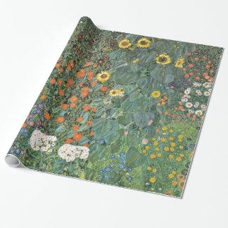 Bauernhof-Garten Gustav Klimt mit Sonnenblumen Geschenkpapier