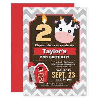 Bauernhof-Geburtstags-Einladung Karte