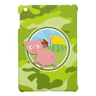 Bauernhof; hellgrüne Camouflage, Tarnung iPad Mini Schale