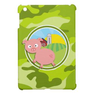 Bauernhof; hellgrüne Camouflage, Tarnung Hüllen Für iPad Mini