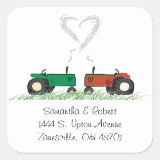 Bauernhof-Hochzeits-Umschlag Aufkleber