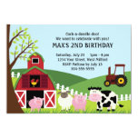 Bauernhof-Kindergeburtstag Personalisierte Ankündigung