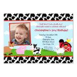Bauernhofbarnyard-Geburtstags-Einladungen