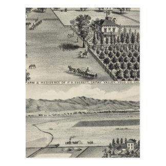 Bauernhöfe, Capay Tal, Madison Postkarte