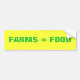 Bauernhöfe = Nahrung Autoaufkleber