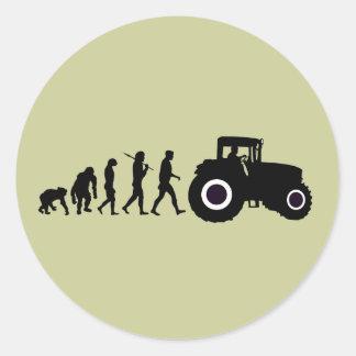Bauers-Evolution der Landwirtschaft der Runder Aufkleber