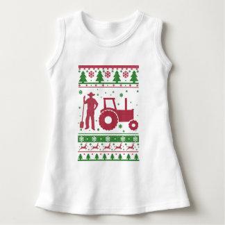 Bauers-hässliche Weihnachtsstrickjacke Kleid