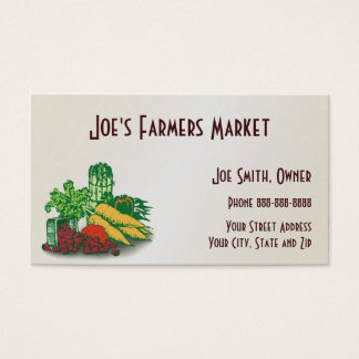 Bauers-Markt-Biokost-Geschäfts-Karte Visitenkarte