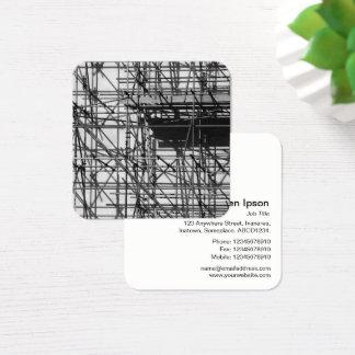 Baugerüst Quadratische Visitenkarte