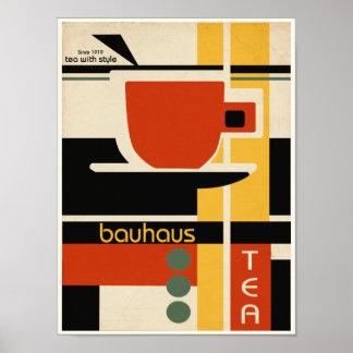 Bauhaus-Entwurfs-Tee Poster