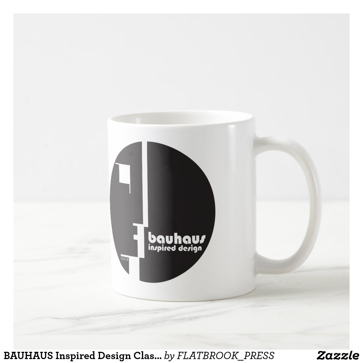 bauhaus inspirierte entwurfs klassische kreis ikon tasse zazzle. Black Bedroom Furniture Sets. Home Design Ideas