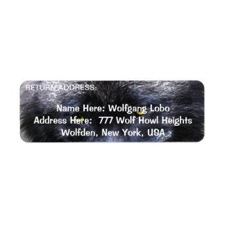 BAUHOLZ-WOLF Tier-Rücksendeadressen-Aufkleber