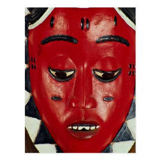 Baule Maske, die Elfenbeinküste Postkarte