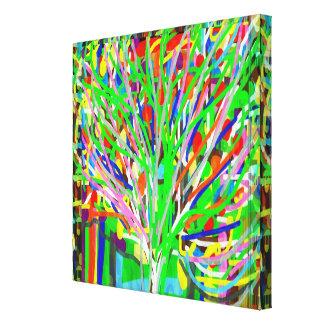 BAUM abstrakte Linien Kunst: Hervorragendes Leinwanddruck