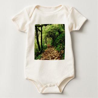 Baum-Ahorn gezeichneter silberner Nebenfluss Baby Strampler