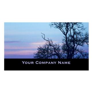 Baum auf ein Pastellhimmel Silhouette-Geschäfts-Ka Visitenkarten