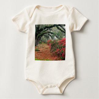 Baum-Azaleen-Eichen-Magnolie Charleston Baby Strampler