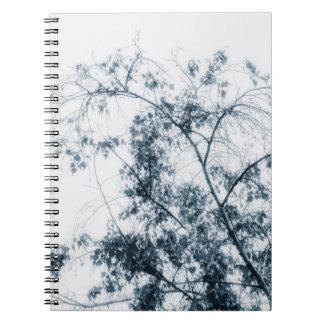 Baum bewegt wellenartig (Blau) Notizblock