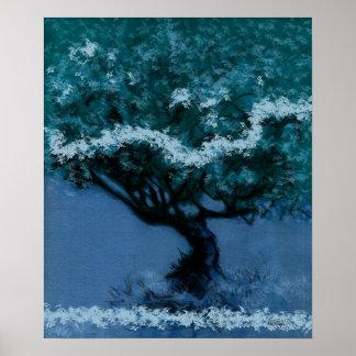 Baum - blaue Veränderung 10 Poster