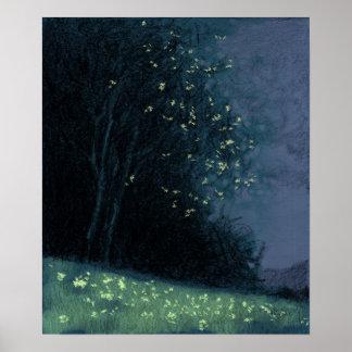 Baum - blaue Veränderung 11 Poster