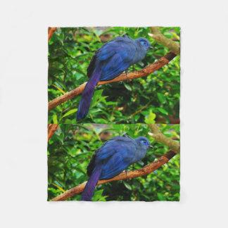 Baum-blauer Vogel-Jahrestags-Schicksals-Schicksale Fleecedecke