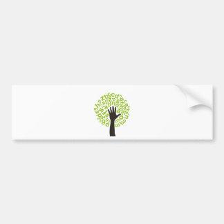 Baum das Alphabet Autoaufkleber