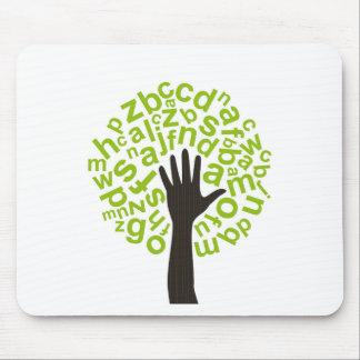 Baum das Alphabet Mauspads