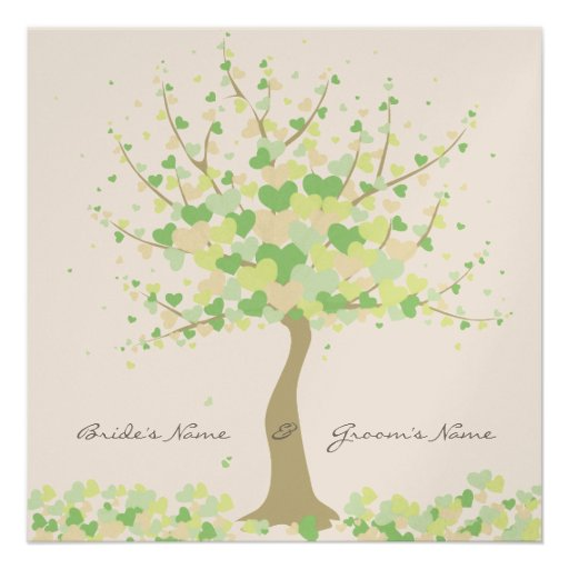 Baum der Herzen - Individuelle Ankündigungskarte
