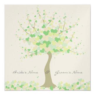 Baum der Herzen - Quadratische 13,3 Cm Einladungskarte