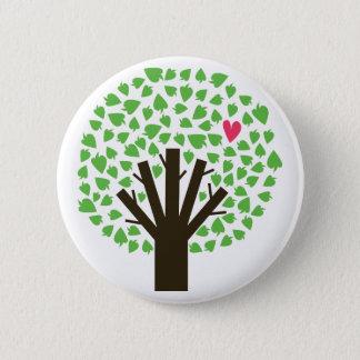 Baum der Herzen Runder Button 5,7 Cm