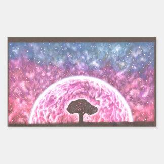 Baum der Leben-Aufkleber Rechteckiger Aufkleber