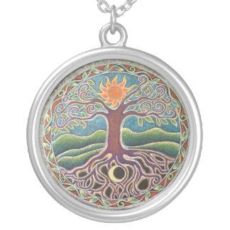 Baum der Leben-Mandala-Halskette